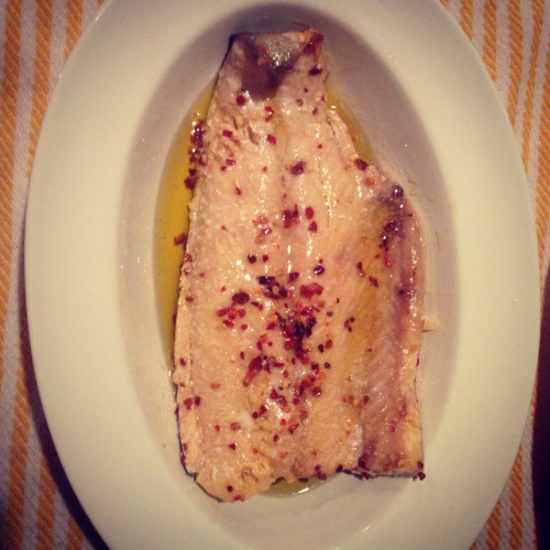 ... oil poached trout and irish cheddar twice-baked potatoes 02 / 27 / 13