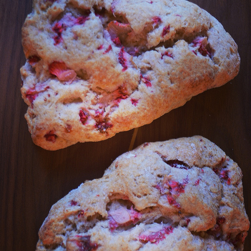 whole wheat strawberry ricotta scones - Things I Made Today