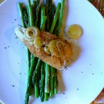 ginger steamed cod with asparagus