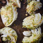roasted cabbage with spicy lime dressing