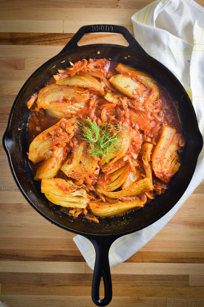Braised Fennel Wedges with Saffron and Tomatoes - Things I Made Today