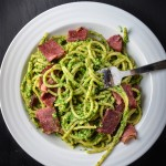 Nettle Pesto Pasta with Bacon
