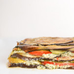 roasted vegetable terrine with goat cheese