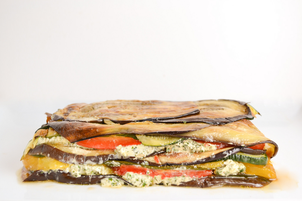 roasted vegetable terrine with goat cheese - Things I Made Today