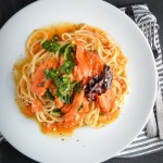 Tomato and Anchovy Butter Pasta with Swiss Chard
