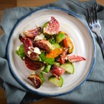 Beet, Cucumber, and Feta Salad with Basil