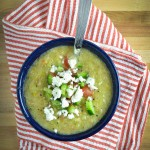 Mexican-Style Gazpacho with Queso Fresco