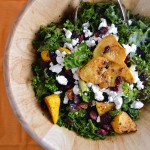 Kale, Squash, Quinoa Salad with Maple Citrus Dressing