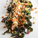 Sautéed Swiss Chard with Crispy Shallots and Walnuts