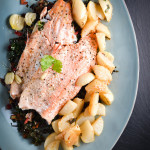 Trout with Braised Turnips and Swiss Chard