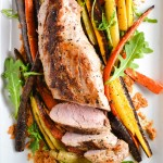 Roasted Pork Tenderloin with Carrot Romesco