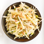 Kohlrabi, Apple, and Walnut Slaw Salad