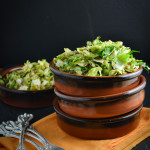 Shredded Brussels Sprouts with Shallots and Caraway Seeds