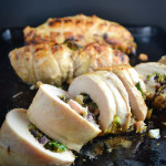 Brussels Sprout, Red Onion, and Feta Stuffed Chicken