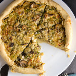 Savory Brussels Sprout, Mushroom, and Blue Cheese Brunch Pie