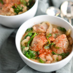 sausage, spinach, and white bean stew