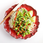 Green Vegetable Rice Noodle Bowl
