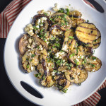 grilled eggplant with cumin vinaigrette and feta