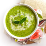 pea mint soup