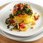 Polenta Stack with Spinach and Tomatoes {Secret Recipe Club}