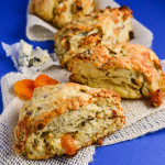 Apricot, Walnut, and Blue Cheese Scones
