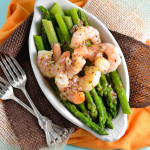 Shrimp and Asparagus in a Sherry Vinaigrette