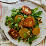 Golden Beet, Halloumi, and Walnut Salad