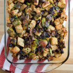 Wisconsin Brussels Sprouts, Jones Bacon and Cranberry Stuffing