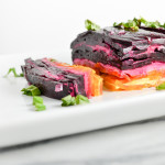 Rainbow Beet Terrine with Goat Cheese