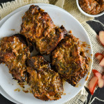 Grilled Chicken Thighs with Ramp and Rhubarb Chutney