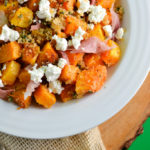 Brown Buttered Squash with Prosciutto and Goat Cheese
