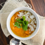 coconut butternut squash soup with rice