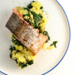 salmon with kale mashed potatoes
